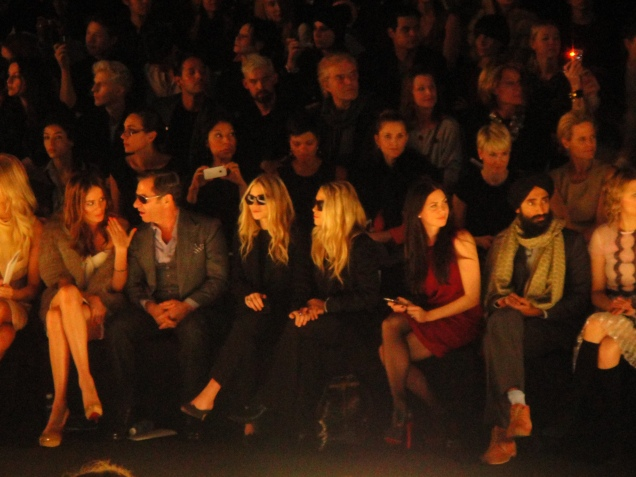 Front Row: Mary K and Ashley O; Man in scarf, Waris Ahluwalia