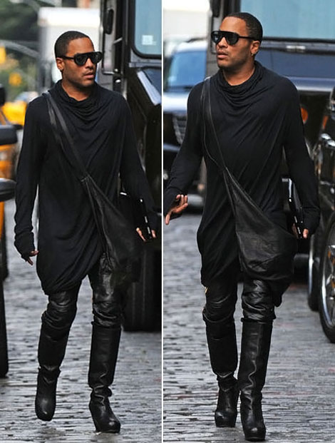 lenny-kravitz-rick-owens-high-heels-boots-dress