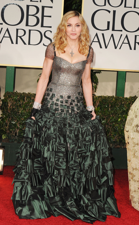 69th Annual Golden Globe Awards - Arrivals: Madonna Reem Acra